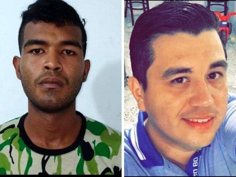Heuro Omar Pérez (condenado) y Alex Angarita Mena (víctima).  FOTO/CORTESÍA.
