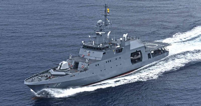 La fragata Almirante Padilla participó en la guerra de las Coreas.  FOTO/CORTESÍA.