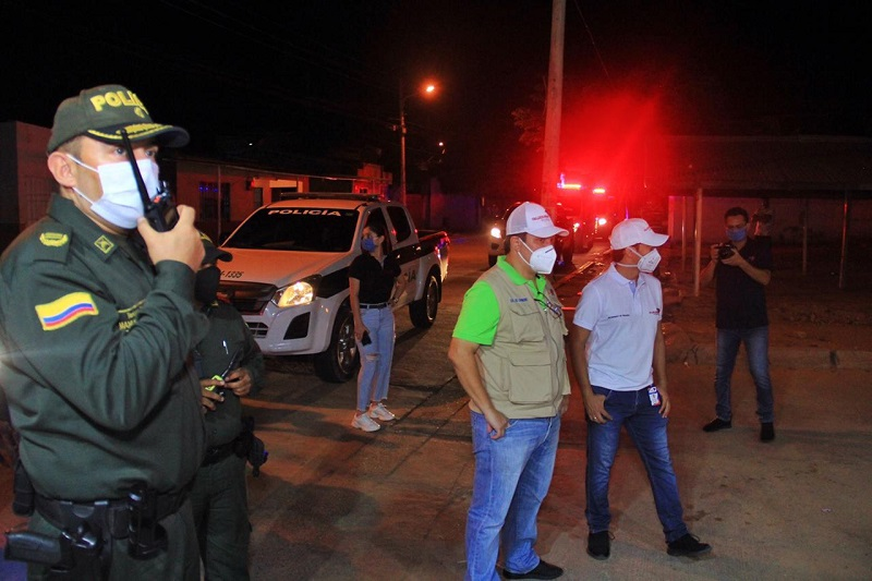 Los controles estuvieron a cargo de la Policía y el Ejército Nacional.   FOTO/CORTESÍA.