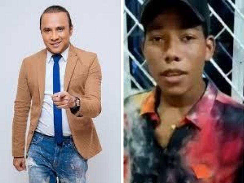 Wilfran Castillo se ha convertido en el padrino musical del joven cartagenero Juan Gómez.   FOTO/CORTESÍA.
