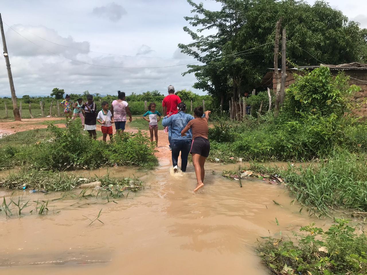 A través del Decreto 144 del 26 de julio del 2020, el municipio de Chiriguaná declaró alerta roja y calamidad pública ante la intensidad de las lluvias y los estragos en la población. Cortesía/EL PILÓN