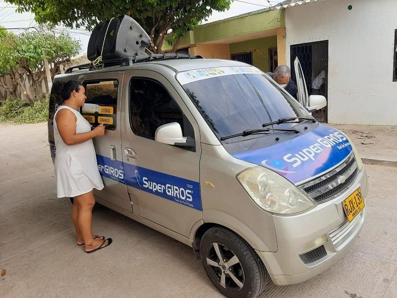 Un vehículo de Supergiros llegará este viernes a la comuna 5 en los barrios Los Músicos, Los Cortijos y Arizona.