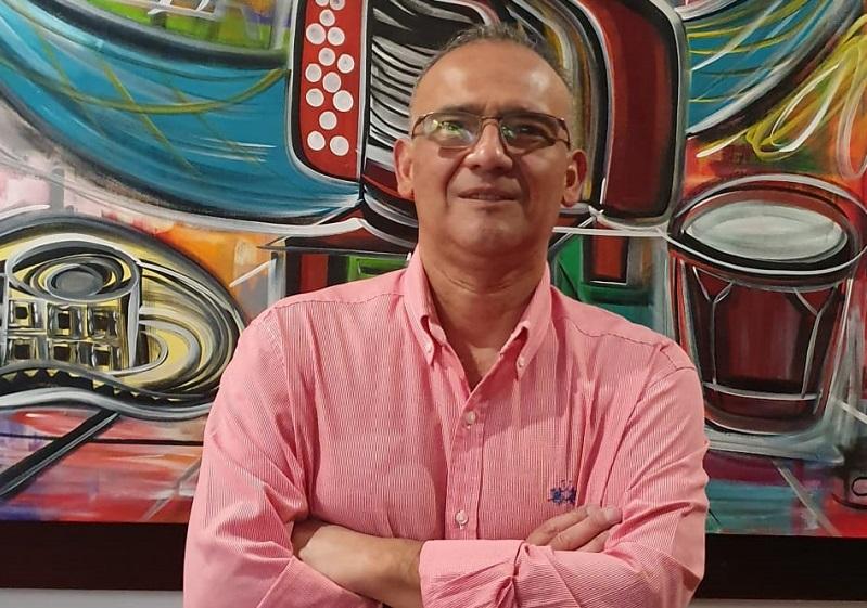 Geovanny Otálora, candidato Cesarense a la gerencia del Canal Regional Telecaribe   FOTO/CORTESÍA.