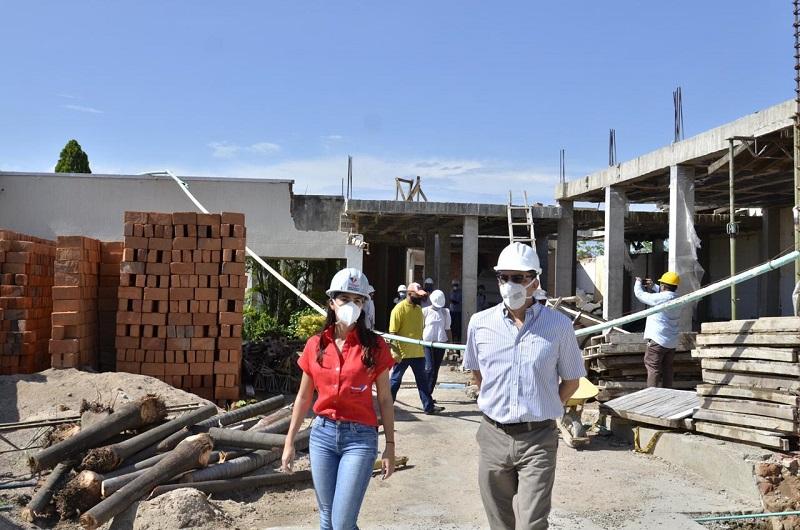Por fin se reiniciarán las obras en la principal sede de la red hospitalaria del municipio de Valledupar.   FOTO/CORTESÍA.
