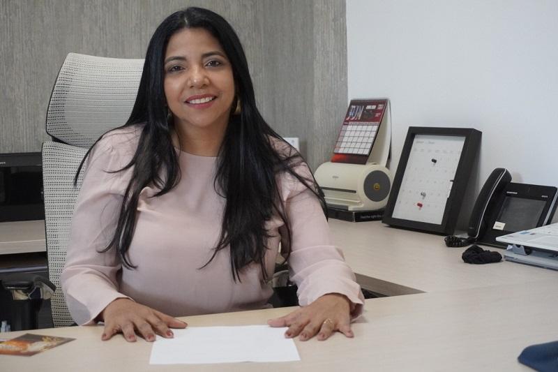 Mabel Moscote, gerente de Telecaribe.   FOTO/CORTESÍA.