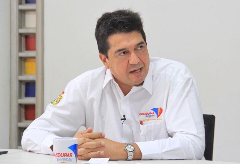 Secretario de Hacienda de Valledupar, Carlos Alfonso Araujo.  FOTO/JOAQUÍN RAMÍREZ.