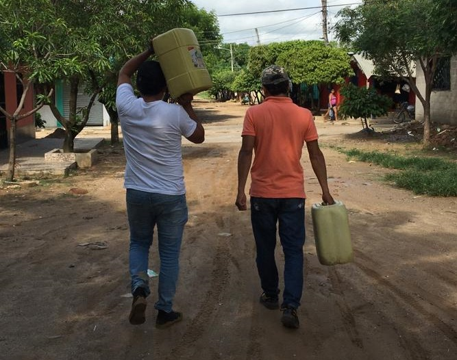 La deficiencia  del servicio de agua potable hace que en Astrea, un municipio de 18.434 habitantes, según el Dane, el 36,4 % de su población sobreviva con sus  Necesidad Básicas Insatisfechas.   FOTO/CORTESÍA.