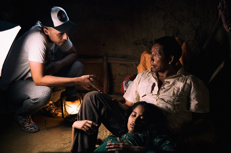 El cienasta David David durante las grabaciones de 'La Frontera'. La película se presentará en el Festival de Cine de Gramado en Brasil.    FOTO/CORTESÍA.