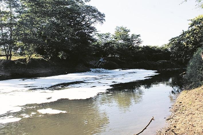 El río Cesar es la cuenca más afectada del departamento.  FOTO/JOAQUÍN RAMÍREZ.