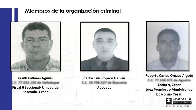 Los funcionarios fueron procesados este viernes.   FOTO/CORTESÍA.