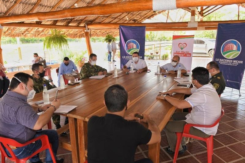 El consejo de seguridad tuvo como punto de encuentro el municipio de San Martín.  FOTO/CORTESÍA.