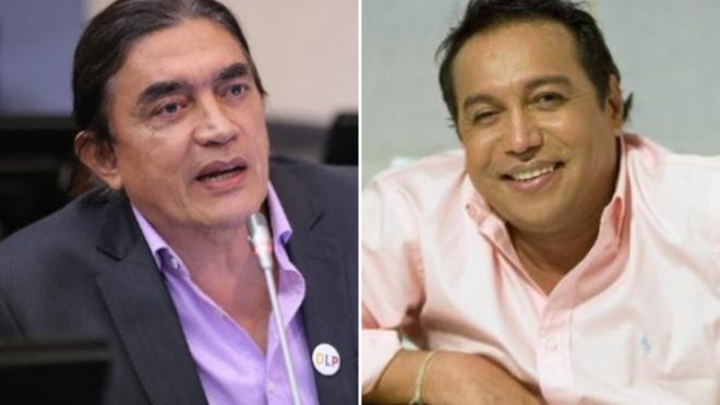 Gustavo Bolívar y Diomedes Díaz.   FOTO/CORTESÍA.
