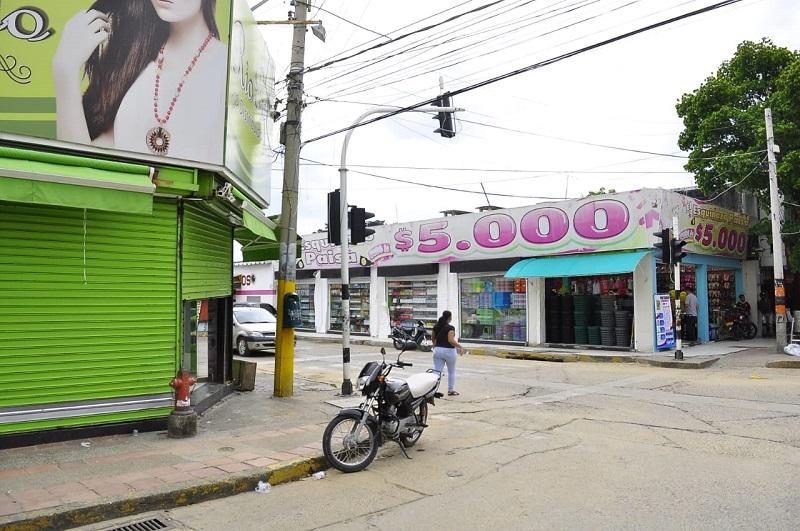 El 20 % del comercio en la ciudad ha cerrado sus puertas.