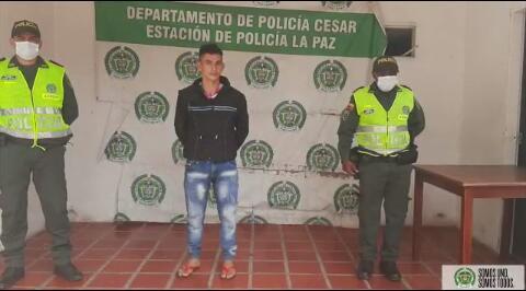 El capturado, Miguel Ángel Laguado.  FOTO/CORTESÍA.