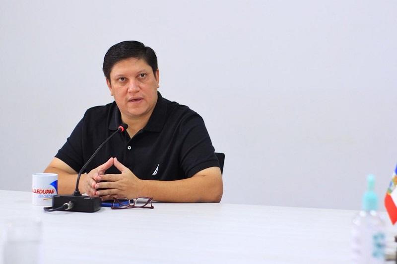 El secretario de Gobierno de Valledupar, Luis Galvis.  FOTO/CORTESÍA.