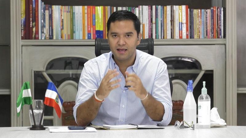 El alcalde de Valledupar, Mello Castro González, tuvo una audiencia en el proceso de demanda de nulidad electoral en primera instancia que instauró un particular.  FOTO/CORTESÍA.