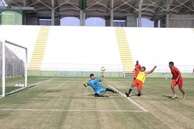 El gramado del Estadio Armando Maestre Pavajeau recibirá un nuevo mantenimiento para cuando el equipo juegue de local.  FOTO/CORTESÍA.