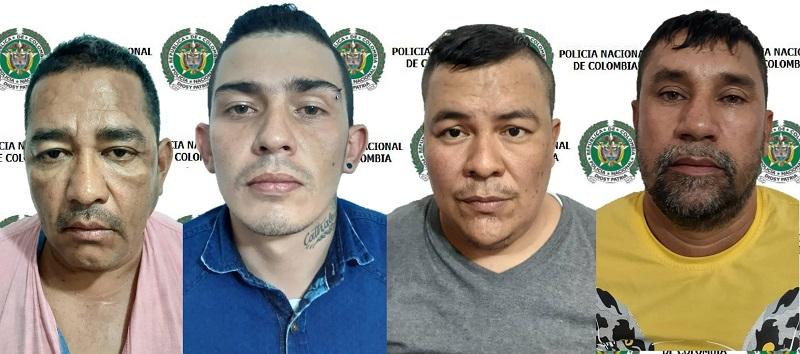 Los procesados cuando fueron capturados.   FOTO/CORTESÍA.