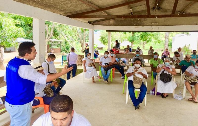 La territorial de la Unidad de Atención a las Víctimas Cesar-La Guajira adelanta procesos de reparación colectiva en el corregimiento de Atánquez.   Foto: Cortesía/EL PILÓN