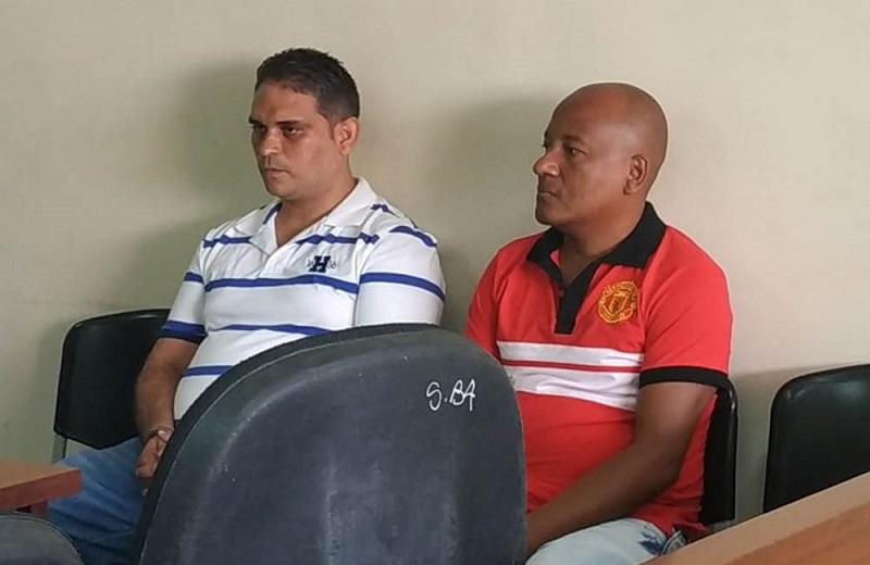 Olfer Valencia y Juan Gabriel Zapata, comparecieron en la audiencia virtual.  FOTO/ARCHIVO.