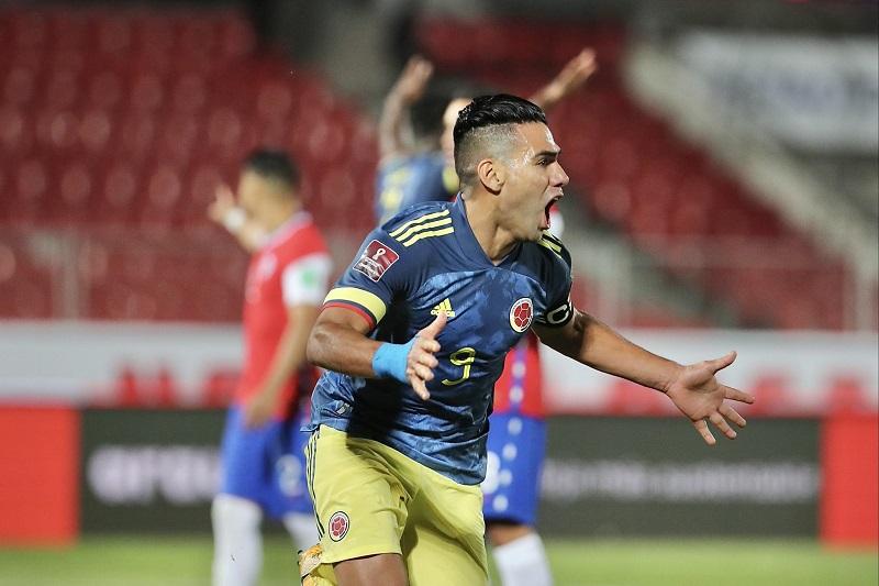 Radamel Falcao selló el empate de Colombia ante Chile