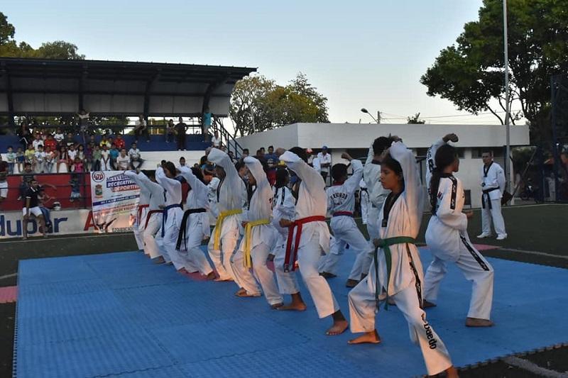 Los taekwondogas del Cesar realizarán sus rutinas de poomsae para obtener un cupo en la selección departamental.  Foto/Cortesía.