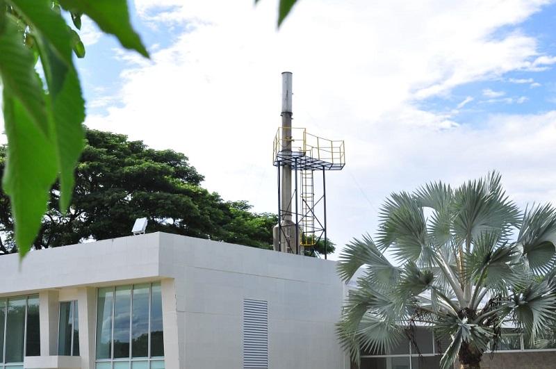 El horno de cremación está ubicado en el kilómetro 2  en la salida de Valledupar hacía Bosconia.   FOTO/JOAQUÍN RAMÍREZ.