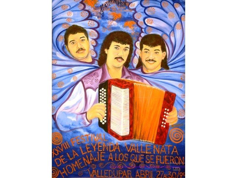En el año 1995 el Festival Vallenato se realizó en homenaje a Juancho Rois, 'Maño' Torres y Eudes Granados.  FOTO/CORTESÍA.