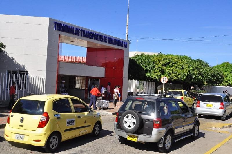 En un 75 % se reactivó el número de pasajeros en la Terminal de Transporte Terrestre  de Valledupar.   FOTO/JOAQUÍN RAMÍREZ.