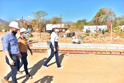 Un total de 150 metros lineales de concreto rígido en el tramo 'La Trochita' están terminados.  FOTO/CORTESÍA.