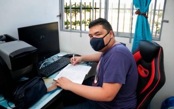 Alejandro Jesús Salas Durán, de Barranquilla, fue uno de los estudiantes con el mayor puntaje del Icfes.   FOTO/CORTESÍA.