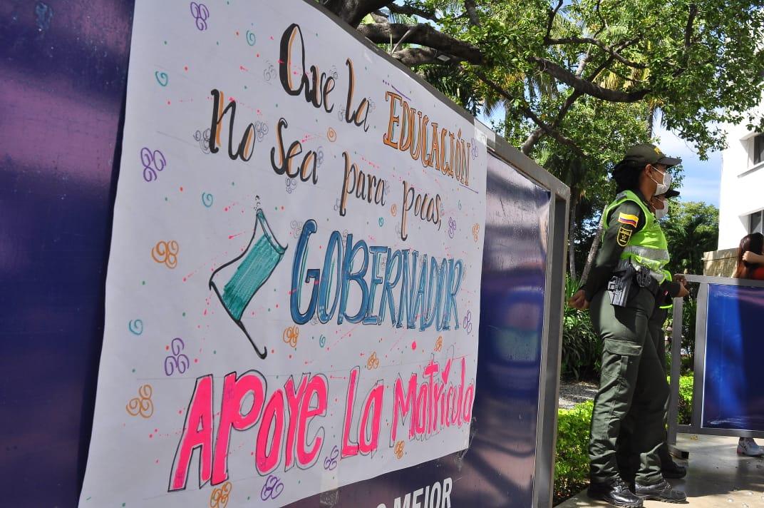El plantón será hoy en la Alcaldía de Valledupar.   FOTO/JOAQUÍN RAMÍREZ.