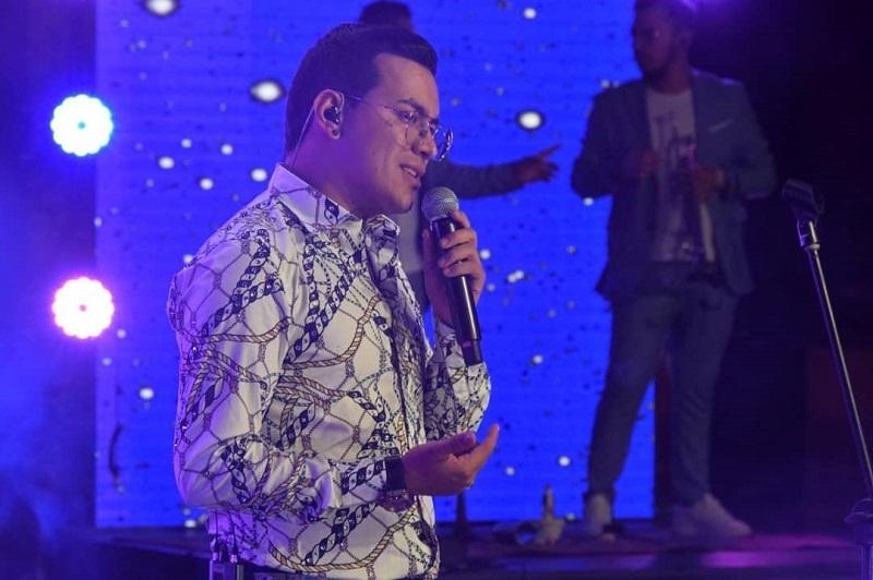 Yeison Jiménez durante el concierto del cumpleaños de Valledupar.   FOTO/CORTESÍA.