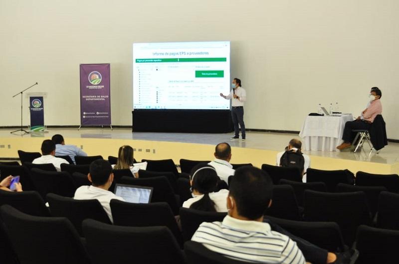El evento se desarrolló de manera virtual desde la Biblioteca Departamental.   FOTO/CORTESÍA.