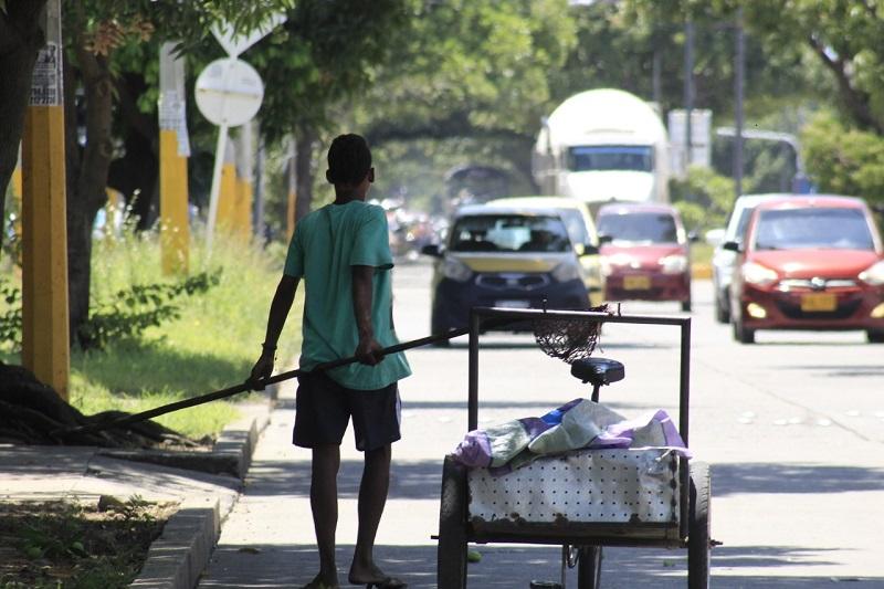 El trabajo infantil se vio evidenciado en distintas zonas de Valledupar.   FOTO/JOAQUÍN RAMÍREZ.