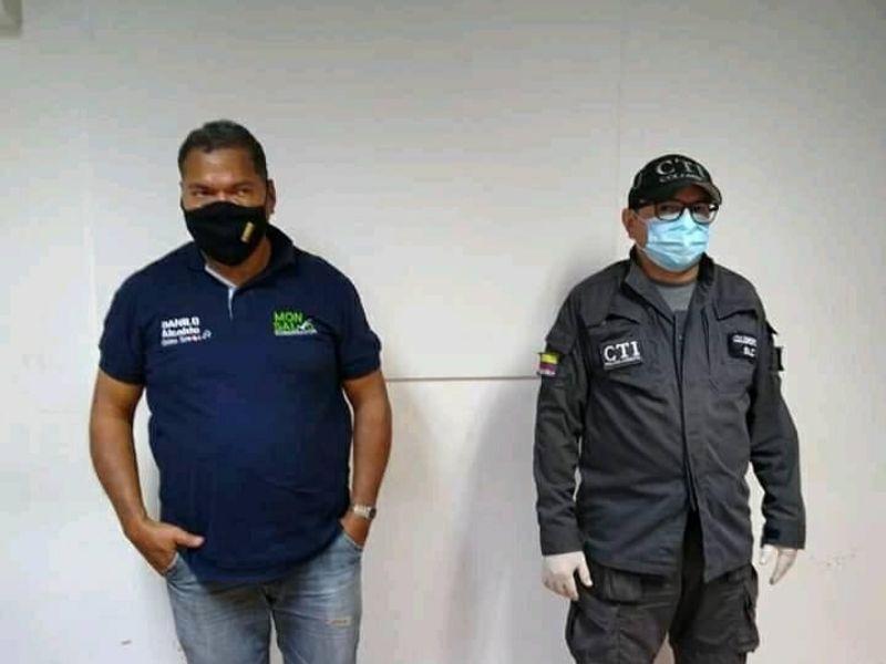 Edgardo José Carreño cuando fue detenido.  FOTO/ARCHIVO.