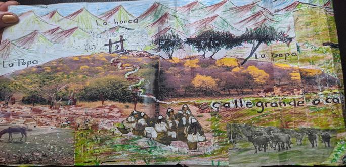Dibujo del cerro La Popa.