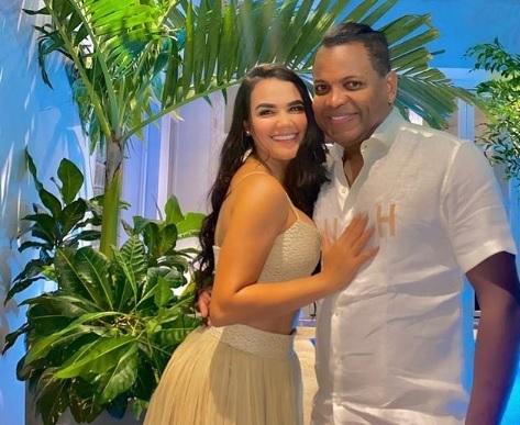 Omar Geles y su novia, Maren García.   FOTO/INSTAGRAM.